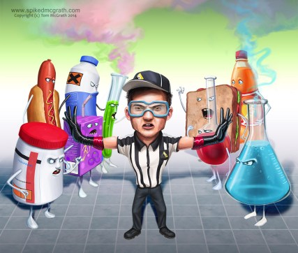 Chemicals attack man
