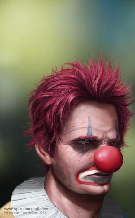 A sad clown