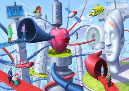 NHS health illustration