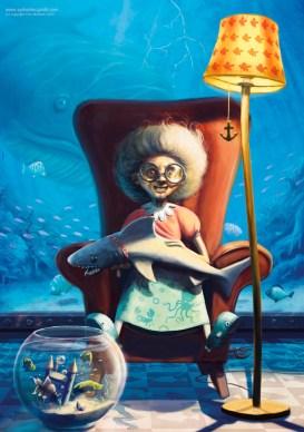A crazy fish lady