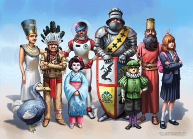 colourful character designs