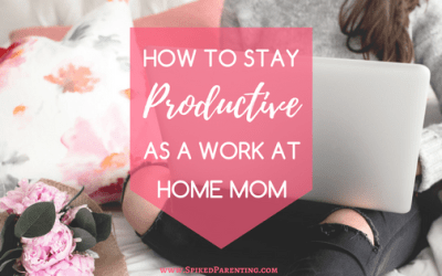 How to Stay Productive as a Work at Home Mom