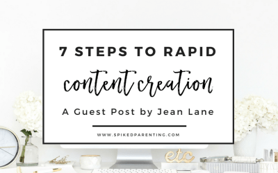 7 Steps to Rapid Content Creation