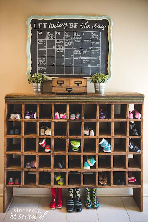 Shoe Storage Cubby by Sincerely Sara D