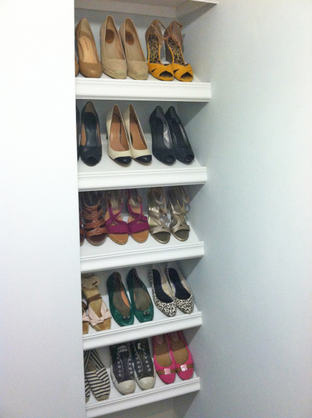 DIY Shoe Shelf by Sunshine and Sawdust