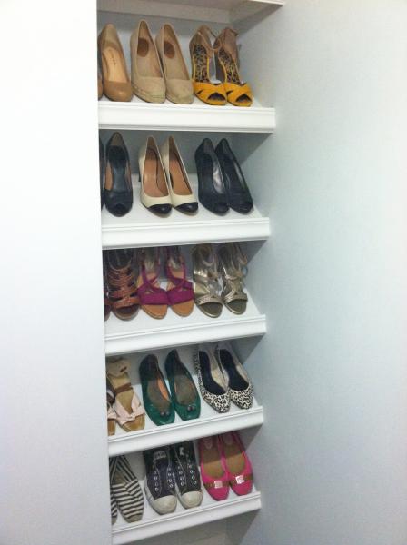 DIY Shoe Shelf by Sunshine and Sawdust