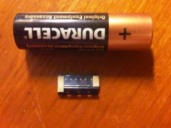 primerjava z AAA baterijo
