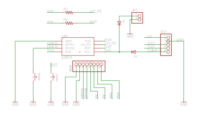 Here is the full schematic for the breakout board.