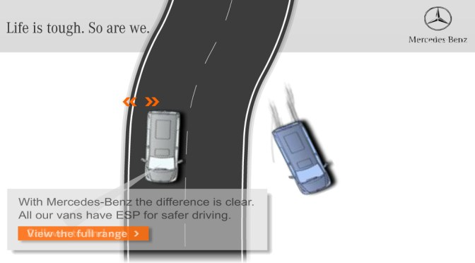 Mercedes Bend – Physics based banner animation
