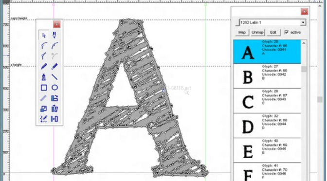 Typelight – a freeware font editor