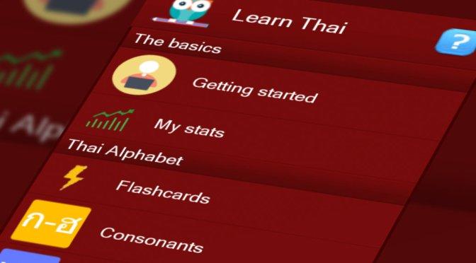 Learn Thai mobile app