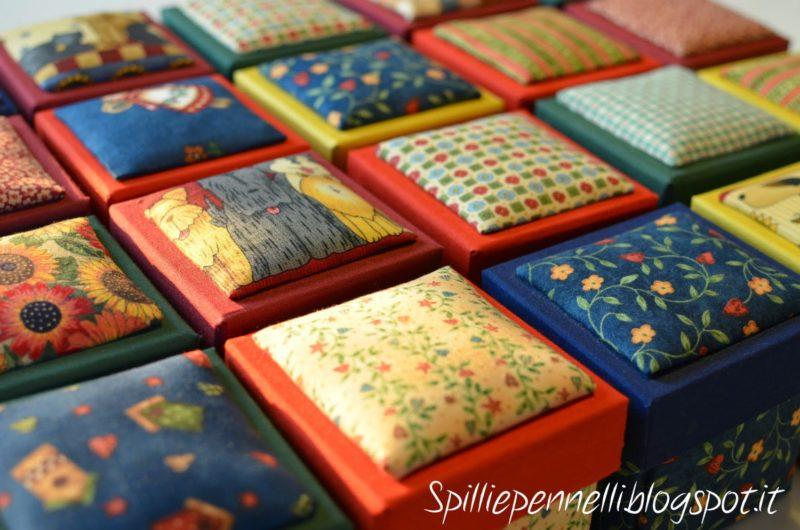 Cucito…molto creativo! Le scatole rivestite in tessuto