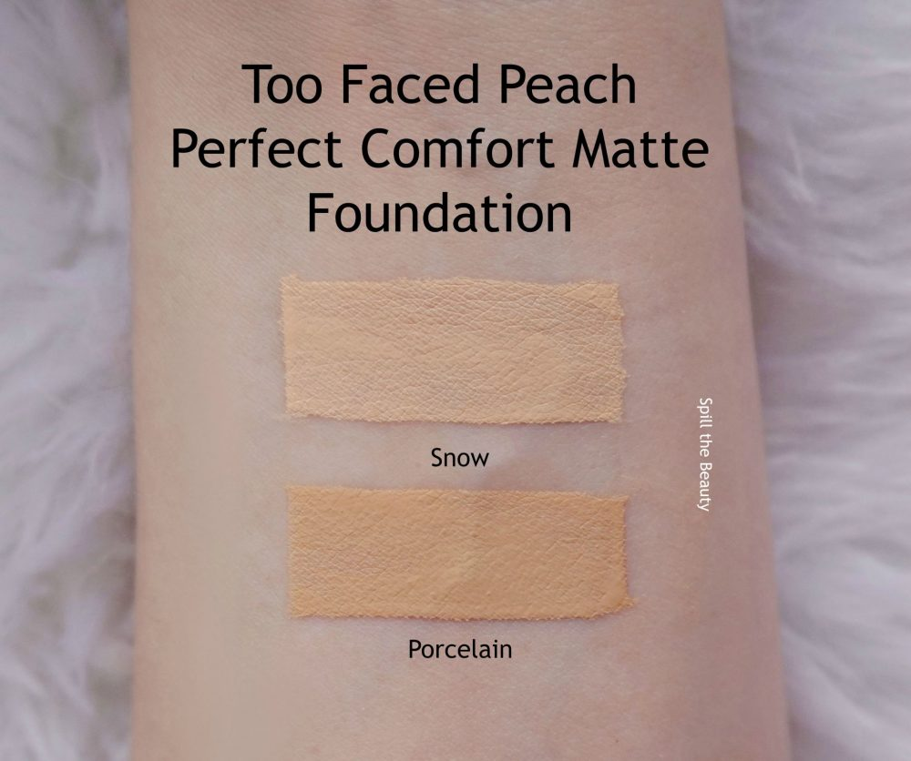 Too Faced Peach Perfect Comfort Matte Foundation Review