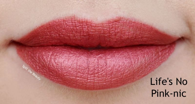wet n wild liquid catsuit metallic liquid lipstick review swatches lifes no pink-nic