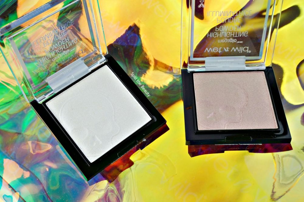 wet n wild goth o graphic highlighters swatches review white raven purple ashes hell-o darkness highlighter stick