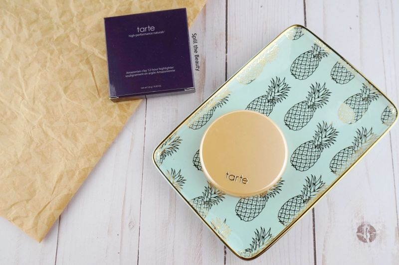 tarte amazonian clay highlighter exposed highlight review swatches comparison dupe