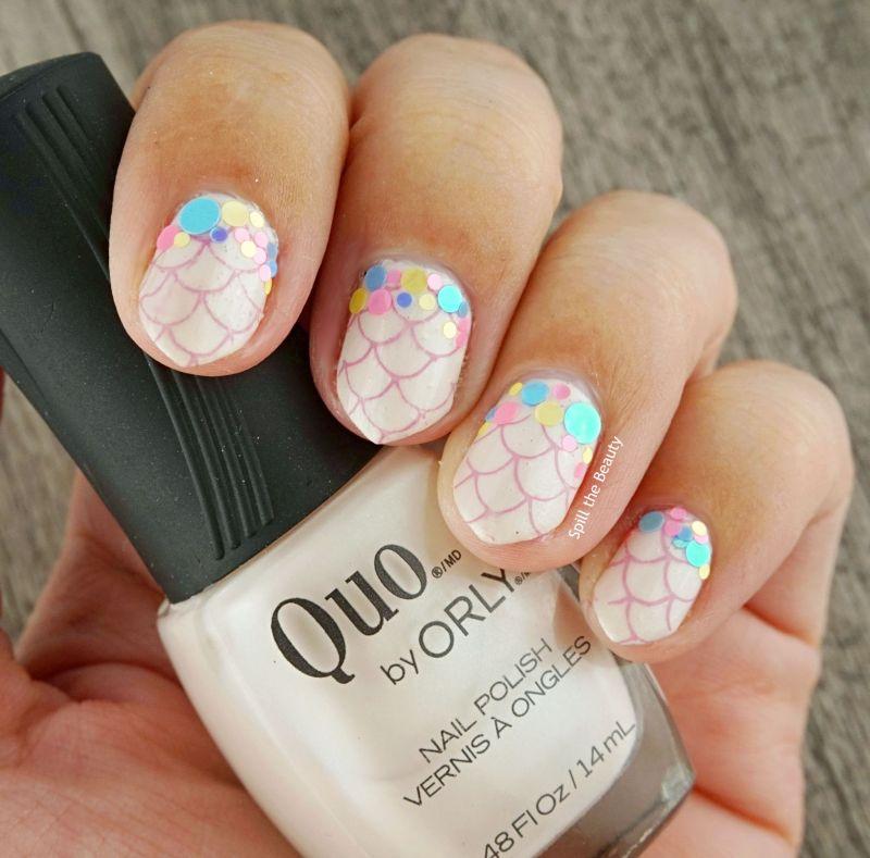 pastel mermaid nail art quo by orly platina