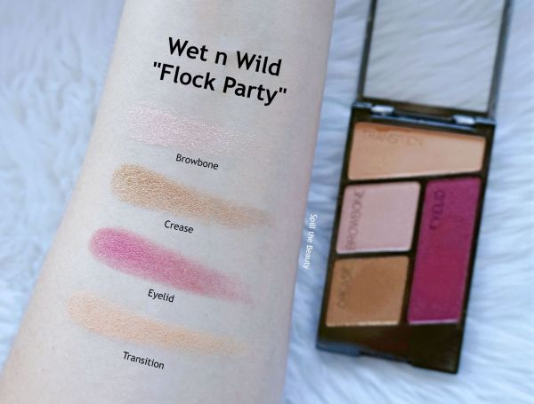 wet n wild flights of fancy eyeshadow review swatches flock party