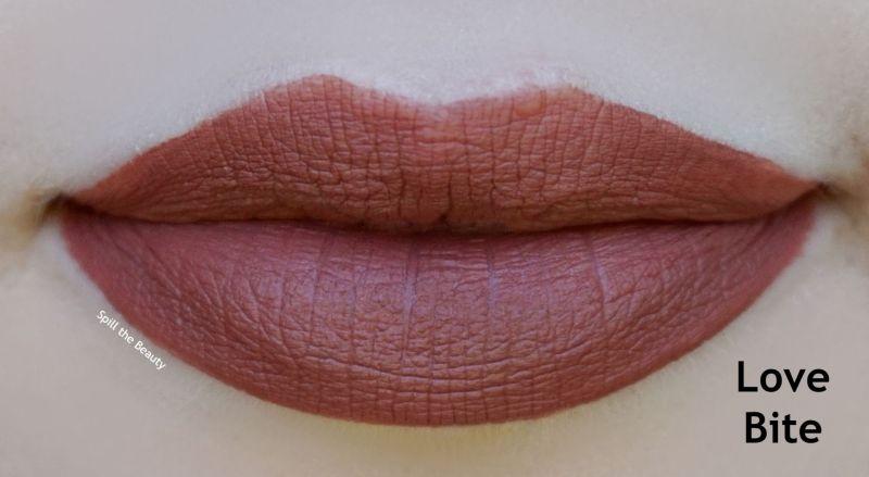 rimmel london stay matte liquid lip colour love bite swatches comparison dupe