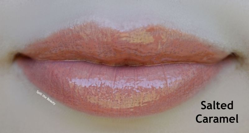 bite beauty french press lip gloss review swatches salted caramel
