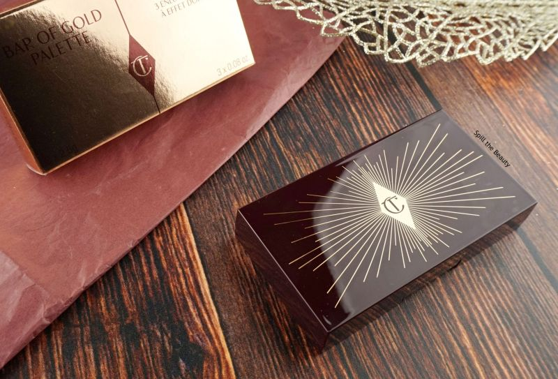 charlotte tilbury bar of gold palette highlighter review swatches