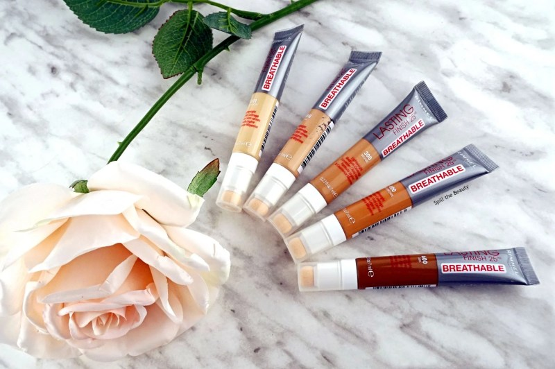 rimmel london lasting finish 25 hr breathable concealer review swatches before and after