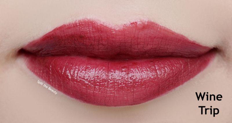 revlon kiss cushion tint wine trip lip swatch comparison dupe