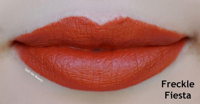 Fenty Beauty Mattemoiselle Plush Matte Lipstick freckle fiesta swatch comparison