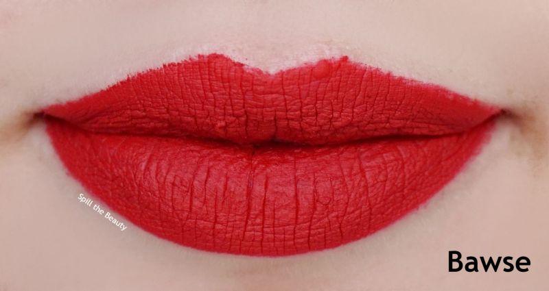 smashbox bawse always on liquid lipstick swatch comparison drugstore dupe
