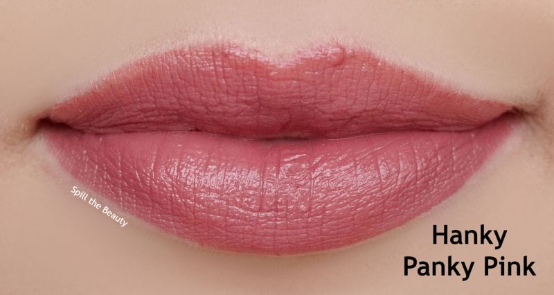 lipstick queen nothing but the nudes swatches hanky panky pink