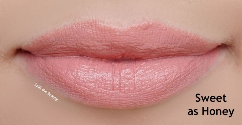 lipstick queen nothing but the nudes swatches sweet as honey