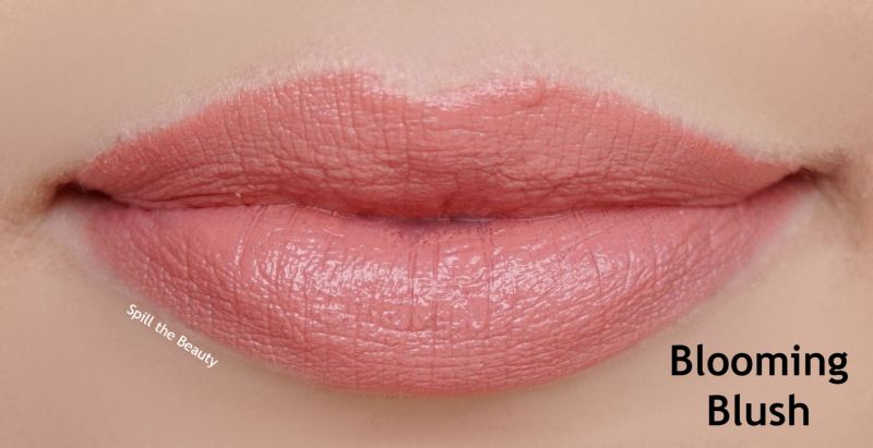 lipstick queen nothing but the nudes swatches blooming blush