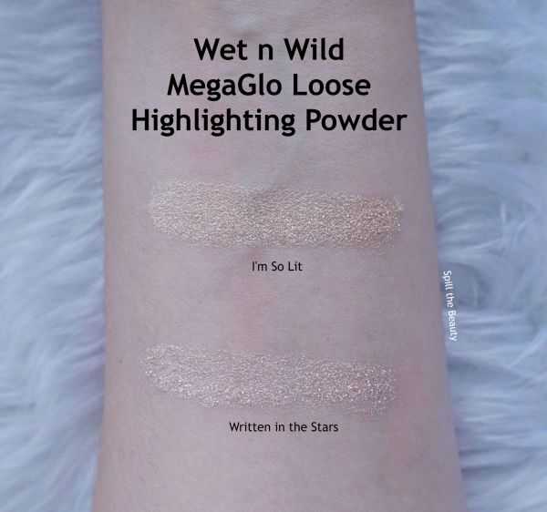 wet n wild im so lit loose highlight review swatches