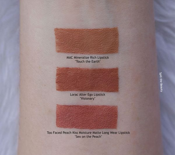 lorac alter ego visionary lip swatch
