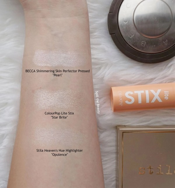 colourpop lite stix star brite review swatches