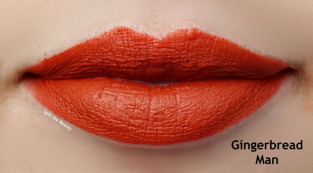 too faced gingerbread man lipstick swatch