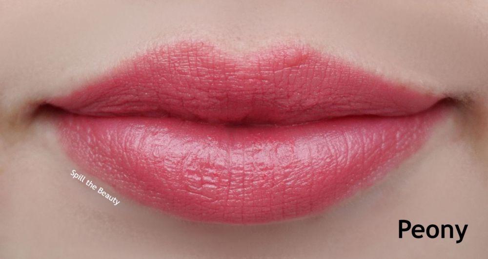 pixi beauty peony lipstick lip swatch