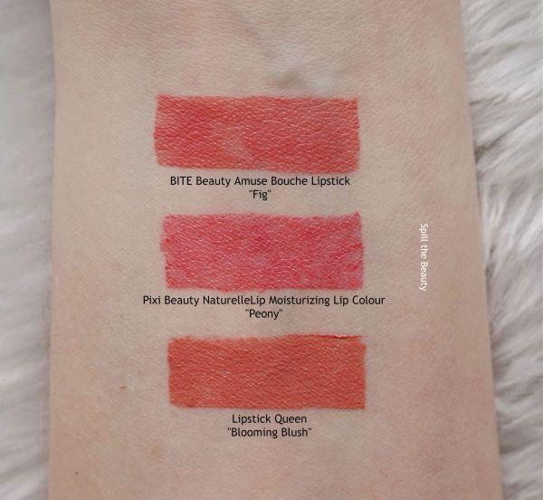 pixi beauty peony lipstick swatches