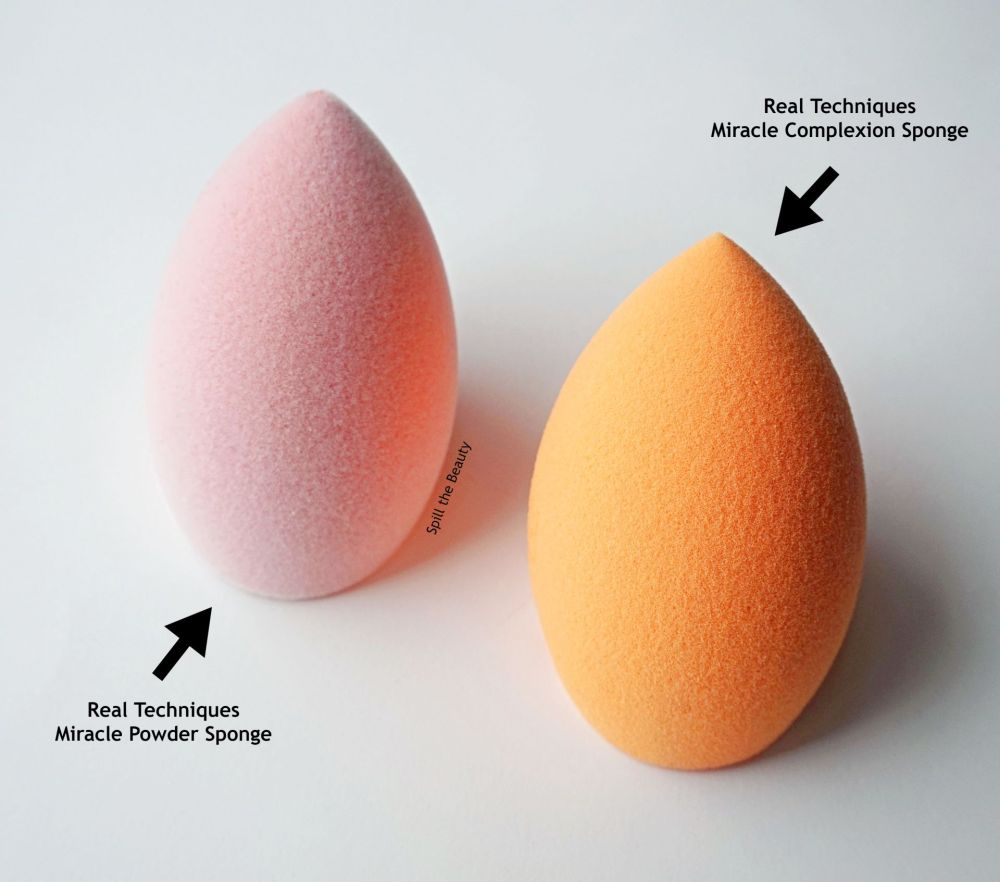 real techniques powder sponge vs complexion sponge