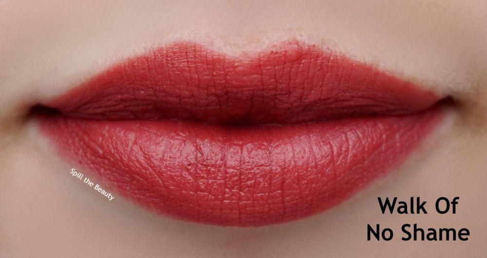 charlotte tilbury walk of no shame lipstick swatch