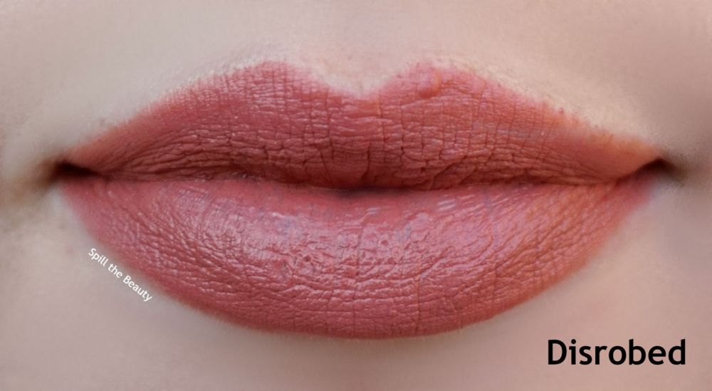 shiseido disrobed lipstick review swatches