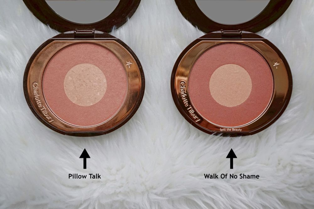 charlotte tilbury walk of no shame chic to chic blush review swatches compared to pillow talk