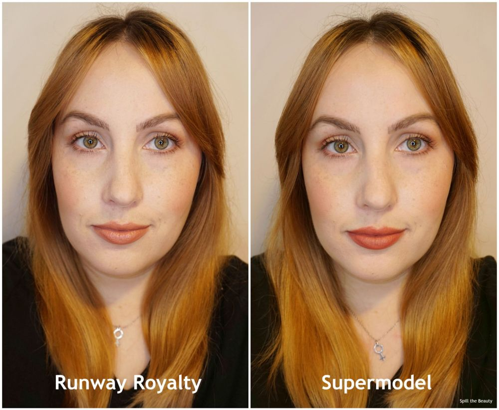 charlotte tilbury super nudes lipstick supermodel runway royalty review swatches