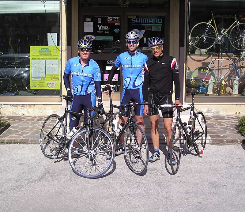 With Brian and Maurizio about to ride our brand-new bikes