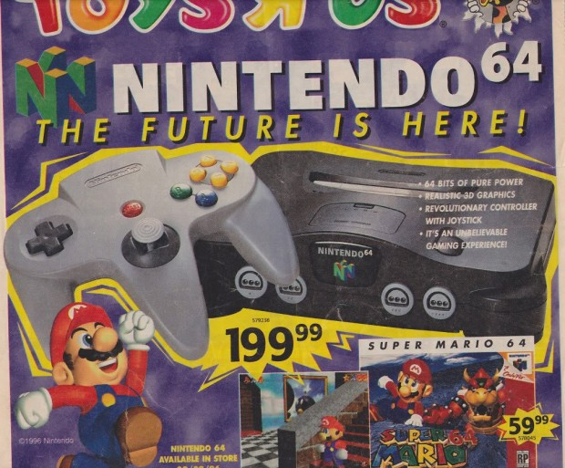 1996 Toys 'R' Us Video Game Ads - Nintendo 64