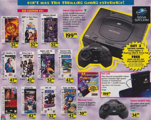 1996 Toys 'R' Us Video Game Ads - Sega Saturn