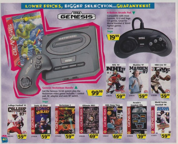 1996 Toys 'R' Us Video Game Ads - Sega Genesis