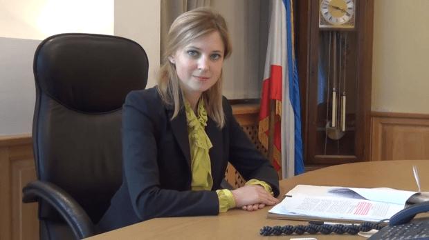 Beautiful Natalia Poklonskaya at her desk