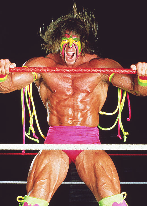 The Ultimate Warrior Shaking the Ropes