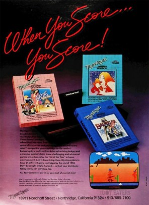 Mystique Erotic Atari 2600 Games Ad - Custer's Revenge, Beat 'Em & Eat 'Em, and Bachelor Party